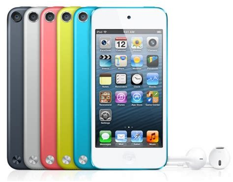 ipod 5 colors apple ipod touch 5th comes in five colors itech news net