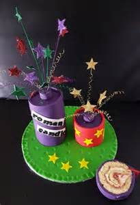 novelty firework cake bonfire night cake it to the max