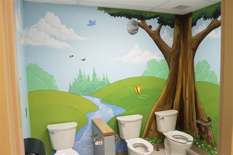 tree themed bathroom tree and forest themed murals mural magic