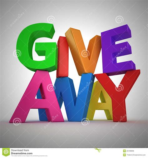 Giveaway Text - giveaway royalty free stock photos image 25728908