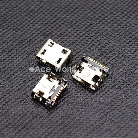 Ts Usb Socket Connector Plastic Cover 10 개 마이크로 usb 핀 b 형 여성 커넥터 휴대 전화 마이크로 usb 잭 커넥터 5 핀 충전 소켓