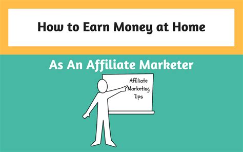 how to earn money at home as an affiliate marketer