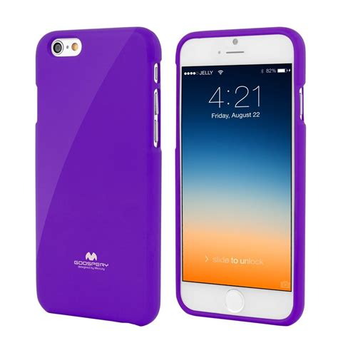 Casecasing Hp Iphone 55sse66s677 High Quality Jelly apple iphone 6 4 7 quot premium jelly purple by goospery