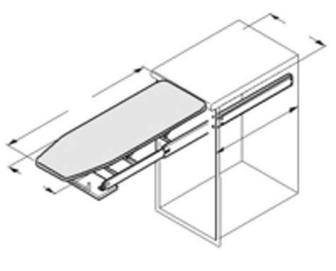ironing board drawer hafele hafele ironfix built in ironing board independent living