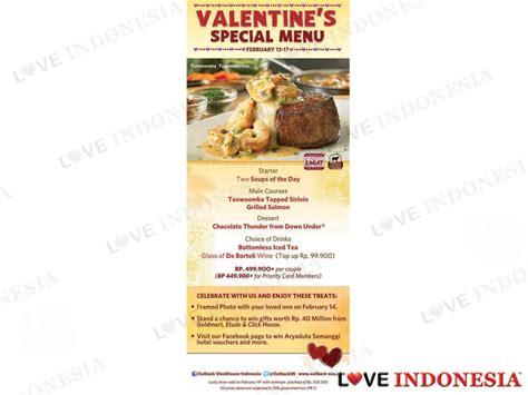 outback valentines special rayakan hari kasih sayang dengan s special menu