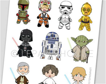 star wars clipart chibi pencil   color star wars