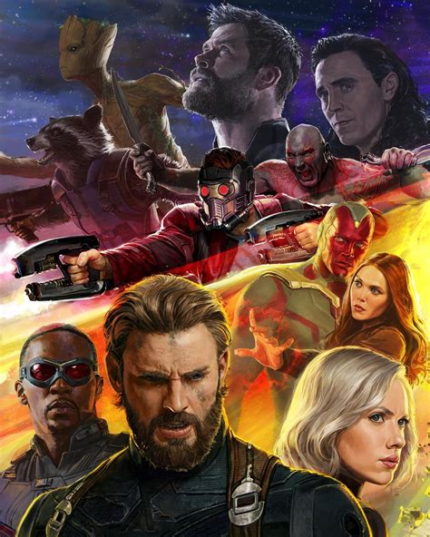 marvel film bad guys avengers infinity war comic con poster released features
