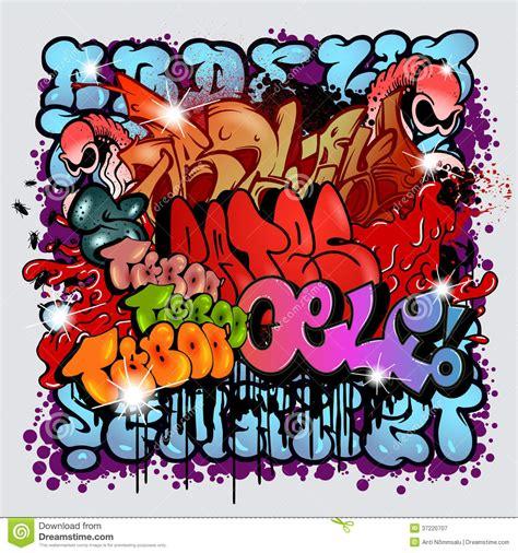 graffiti street art vector stock vector illustration