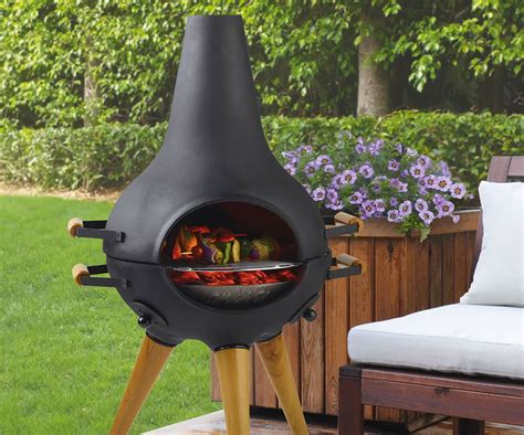 Better Homes Chiminea Aniva Cosa Transforming Chiminea Grill Dudeiwantthat
