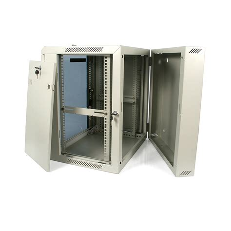 glass door server cabinet startech com 12u 19inch hinged wall mount server rack