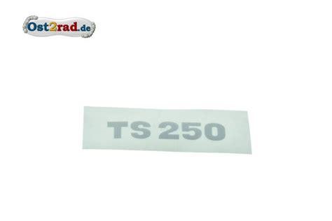 Roller Sitzbank Aufkleber by Ost2rad Aufkleber Deckel Sitzbank Ts 250 Silber