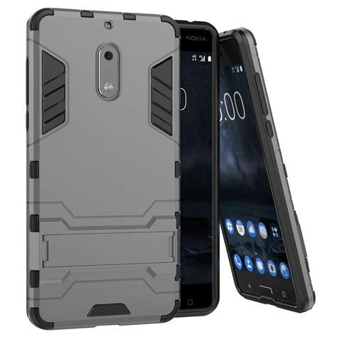 Nokia 6 Rugged Armor slim armour tough shockproof nokia 6 silver