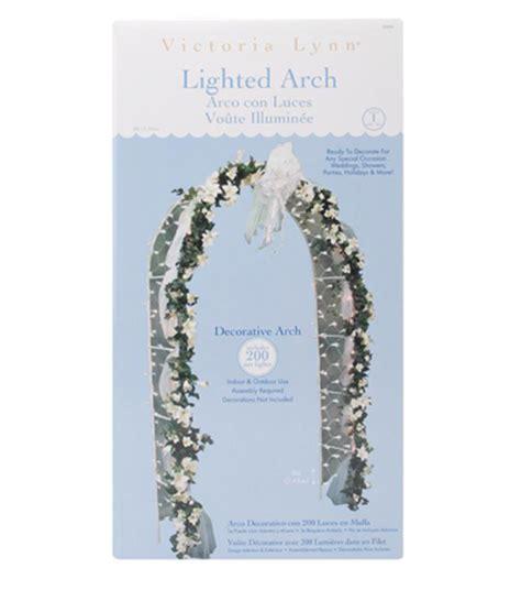 Wedding Arch Joann darice 174 white lighted decorative arch jo