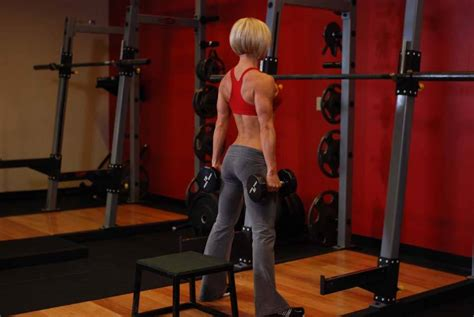 bench squats dumbbell squat to a bench exercise guide and video