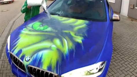 this bmw s thermochromic paint change color when treated to warm water motoroids