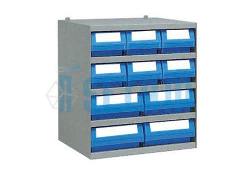casier avec 10 bacs tiroirs plastique de rangement