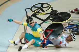 Causes horror crash during omnium race at rio 2016 daily mail online