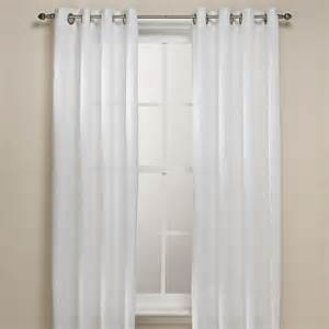 63 White Curtains Buy B Smith Origami Grommet 63 Inch Window Curtain Panel In White From Bed Bath Beyond