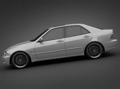 lexus models 2005 2005 lexus is200 3d model max obj 3ds lwo lw lws