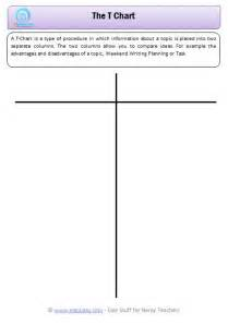 free printable t chart template search