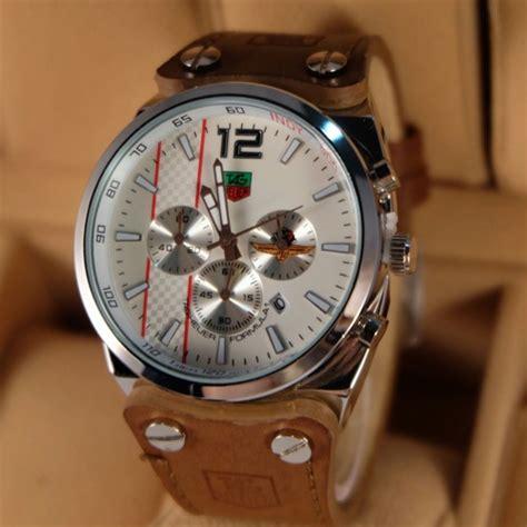 Harga Jam Tangan Merk Tag Heuer jual jam tangan tagheuer tali kulit chrono jam tangan