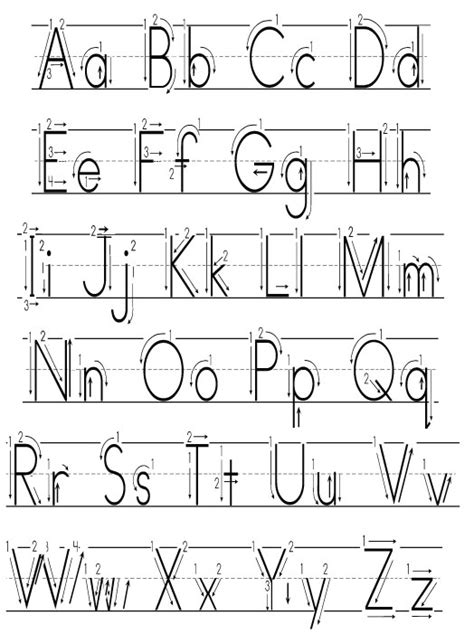alphabet writing template