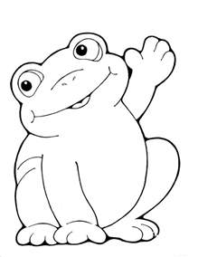 coloring pages kids frog coloring pages