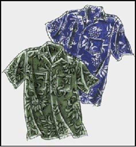 hawaiian shirt pattern sewing amazon com men s classic hawaiian aloha shirt sewing