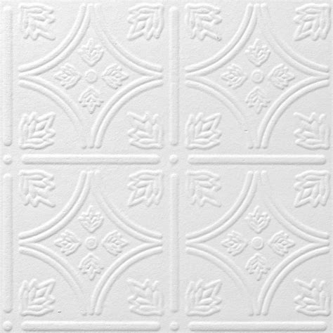 Tin Ceiling Tiles Shop Armstrong Tin Look Tintile Homestyle 40 Pack White