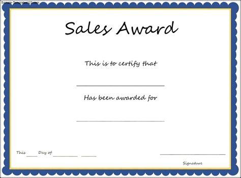 sales certificate template sales award certificate template sle templates