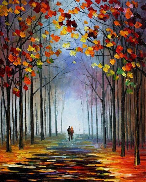 autumn fog by leonid afremov by leonidafremov on deviantart
