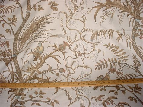 Bird Upholstery Fabric by 1y Brunschwig Et Fils Bird Thistle Upholstery Fabric Ebay