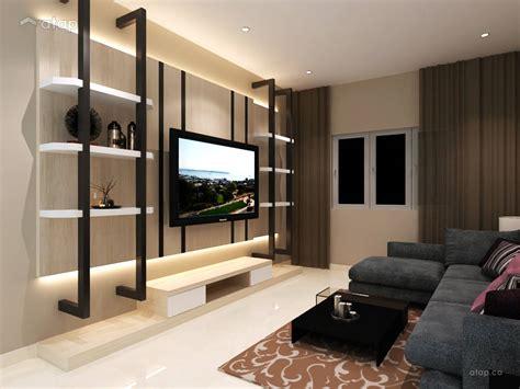 contemporary modern living room bungalow design ideas  malaysia atapco