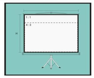 Fixed Frame Tripod Screen Projector Layar Proyektor 70 jenis jenis screen projector yang umum digunakan kobbom