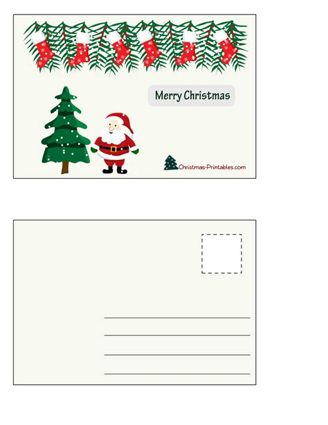 printable christmas postcards print postcards design slim image