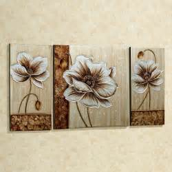 Canvas Wall Decor by Subtle Elegance Floral Canvas Wall Set