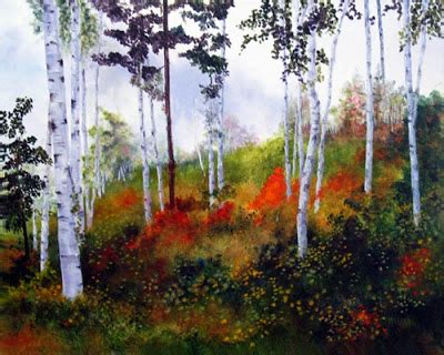 Landscape Paintings Usa Marina Petro Adventures In Daily Painting Birch Grove