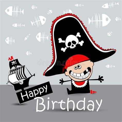 clipart auguri pirata felice biglietto di auguri per il compleanno