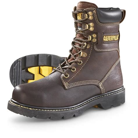 cat boots for cat footwear s indiana techniflex steel toe work boots