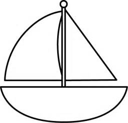 Sailboat Outline by Sailboat Outline Clipart Best