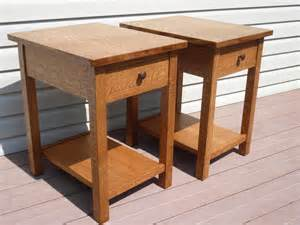 craftsman style end tables woodworking creation by tim