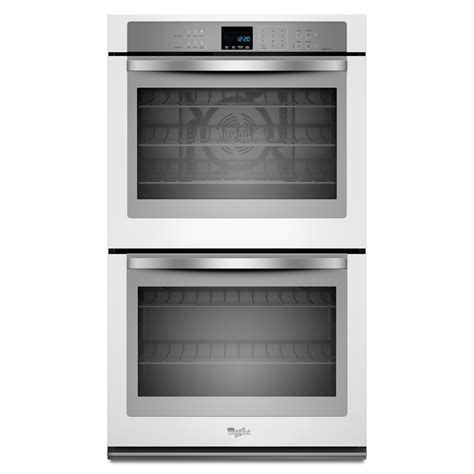 shop whirlpool self cleaning convection electric wall oven white common 30 in