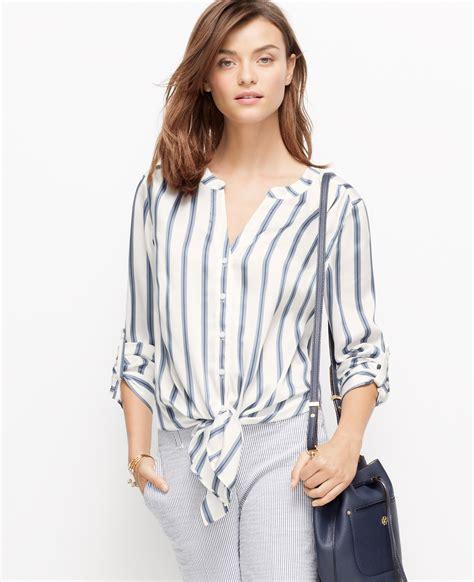 Tie Top Blouse White white tie front blouse chiffon blouse pink