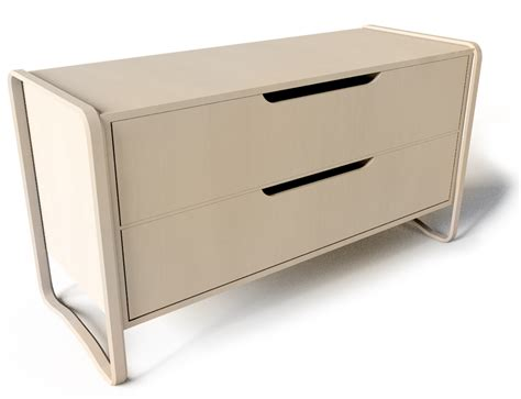 Chest Of 2 Drawers by Oggetto Bim Anes Chest Of 2 Drawers Brich Veneer