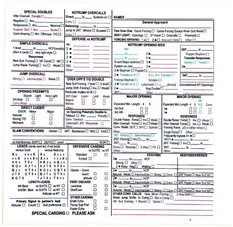 convention cards form 1240f free 500 sheets view
