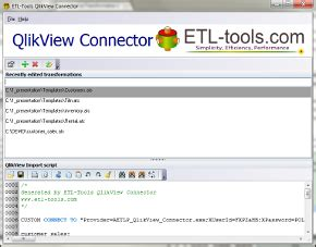 Qlikview Etl Tutorial | a quick introduction to qlikview connector online tutorials