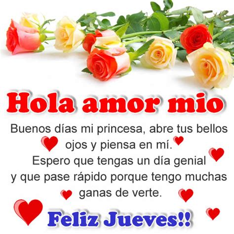 imagenes hola amor mio hola amor m 237 o buenos d 237 as frases con imagenes