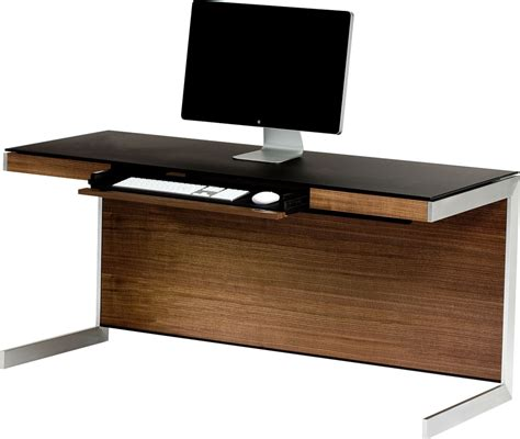 walnut computer desk bdi sequel 6001 walnut computer desk