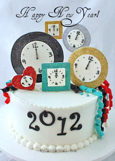 new year cake easy happy new year cake tutorial my cake school