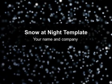 Snow At Night Template Snow Animation For Powerpoint